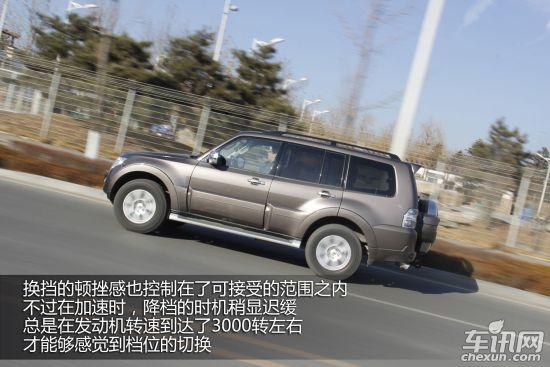 媒体测试2014款三菱帕杰罗 不为公路而生 高清图片