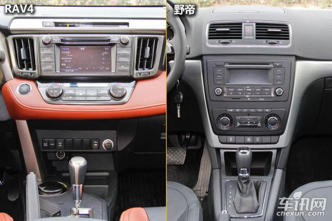 丰田rav4对比斯柯达野帝 性格迥异的两车