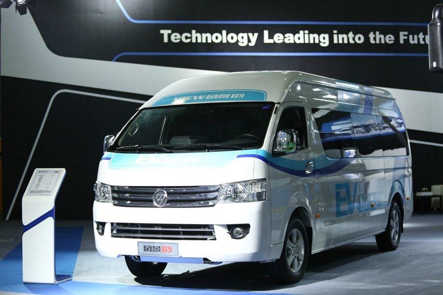 福田风景g9纯电动搭载全新开发动力系统,电池系统等装置,不但