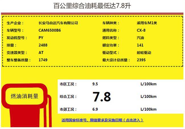 长安马自达CX-8提供2驱/4驱车型 或年内上市