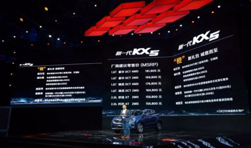 新一代KX5上市会暨买车送车抽奖圆满落幕