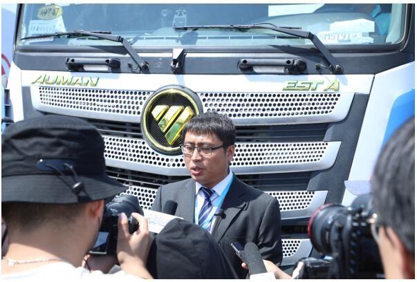 福田汽车参加国内首次列队跟驰公开验证试验
