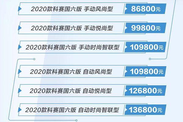 长安欧尚2020款科赛上市 售8.68万-13.68万