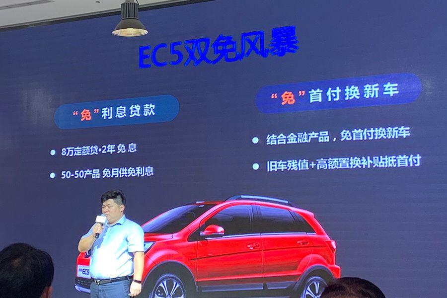 补贴后9.99万元起 北汽新能源EC5北京上市