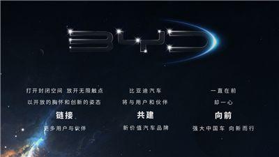 A new beginning, 比亚迪汽车发布品牌全新标识