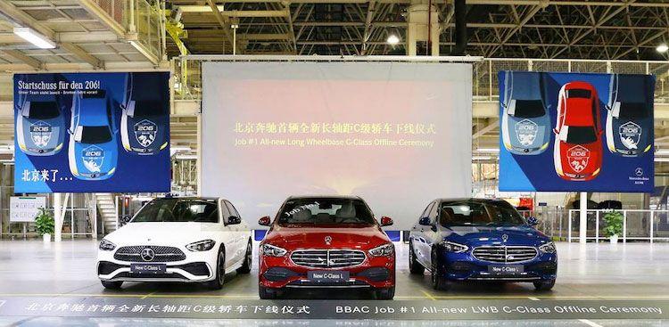 上市在即!全新国产奔驰C级长轴版&国产M254发动机双双下线